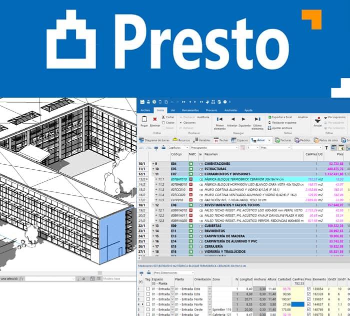 presto software BIM para gestion de proyectos de edificacion y obra civil