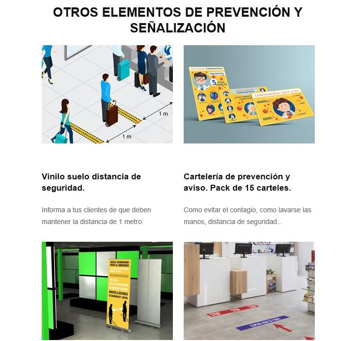 elementos de señalizacion proteccion covid19