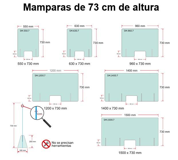 mamparas de 73 centimetros proteccion covid19
