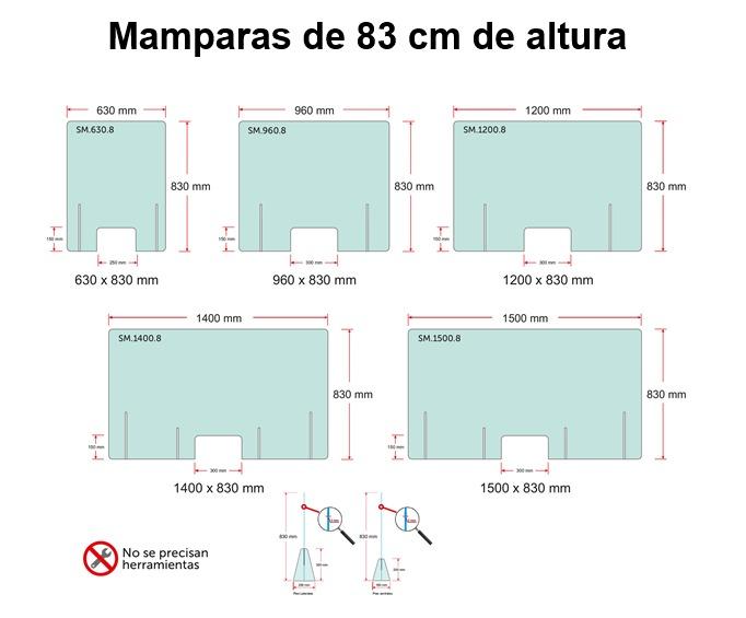 mamparas de 83 centimetros proteccion covid19