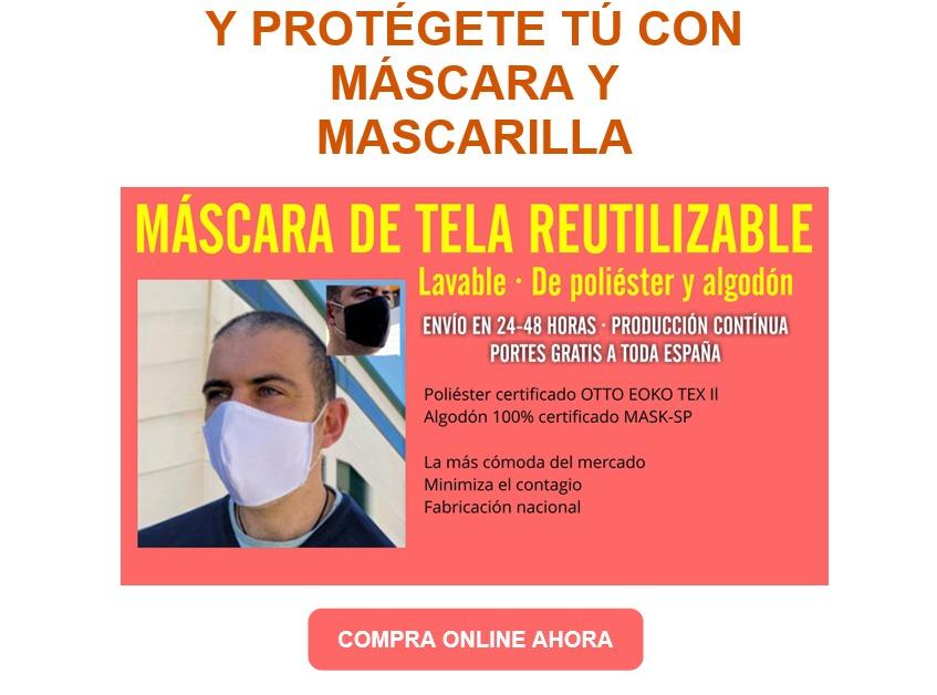 mascarillas reutilizables tela homologadas proteccion covid19
