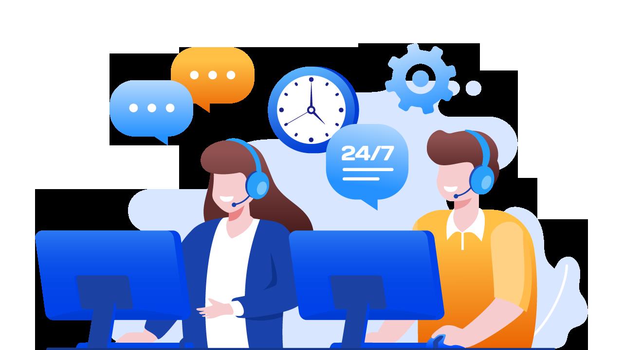 soporte real 24 horas para nuestros clientes