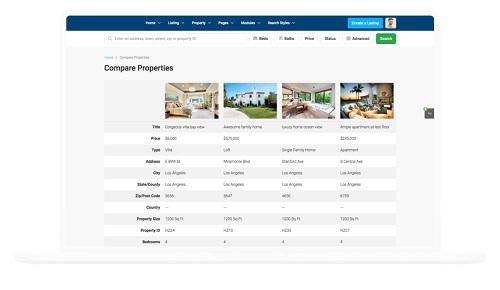 Diseño de paginas web para inmobiliarias Comparador de Inmuebles y propiedades