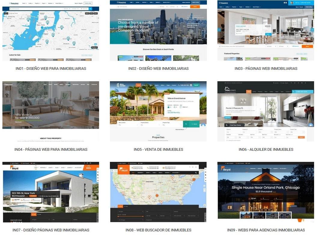 diseño de paginas web para inmobiliarias ejemplos