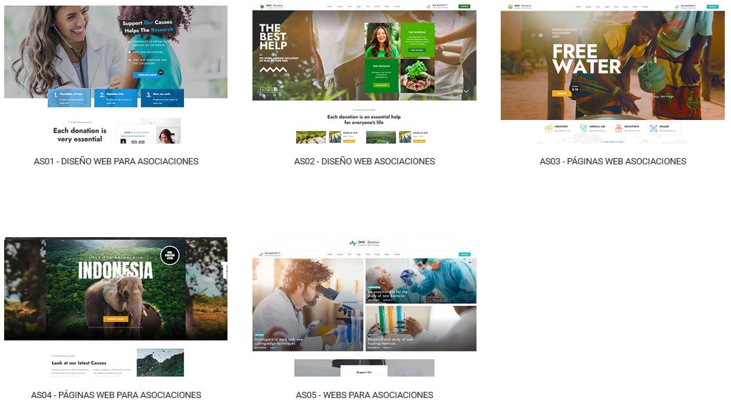 diseño web para asociaciones y proyectos