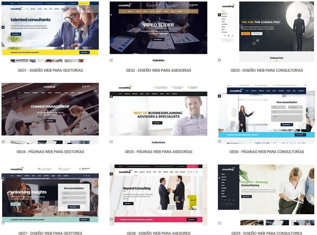 diseño de paginas web para gestorias y asesorias
