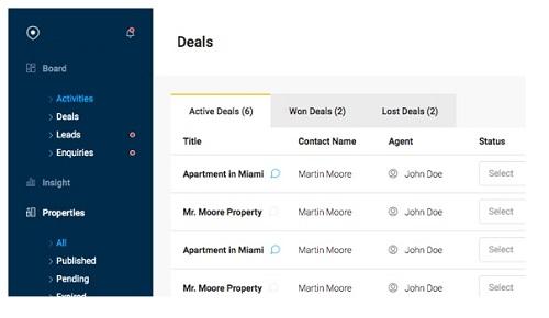 Diseño de paginas web para inmobiliarias Sistema de consultas para visitantes de la web