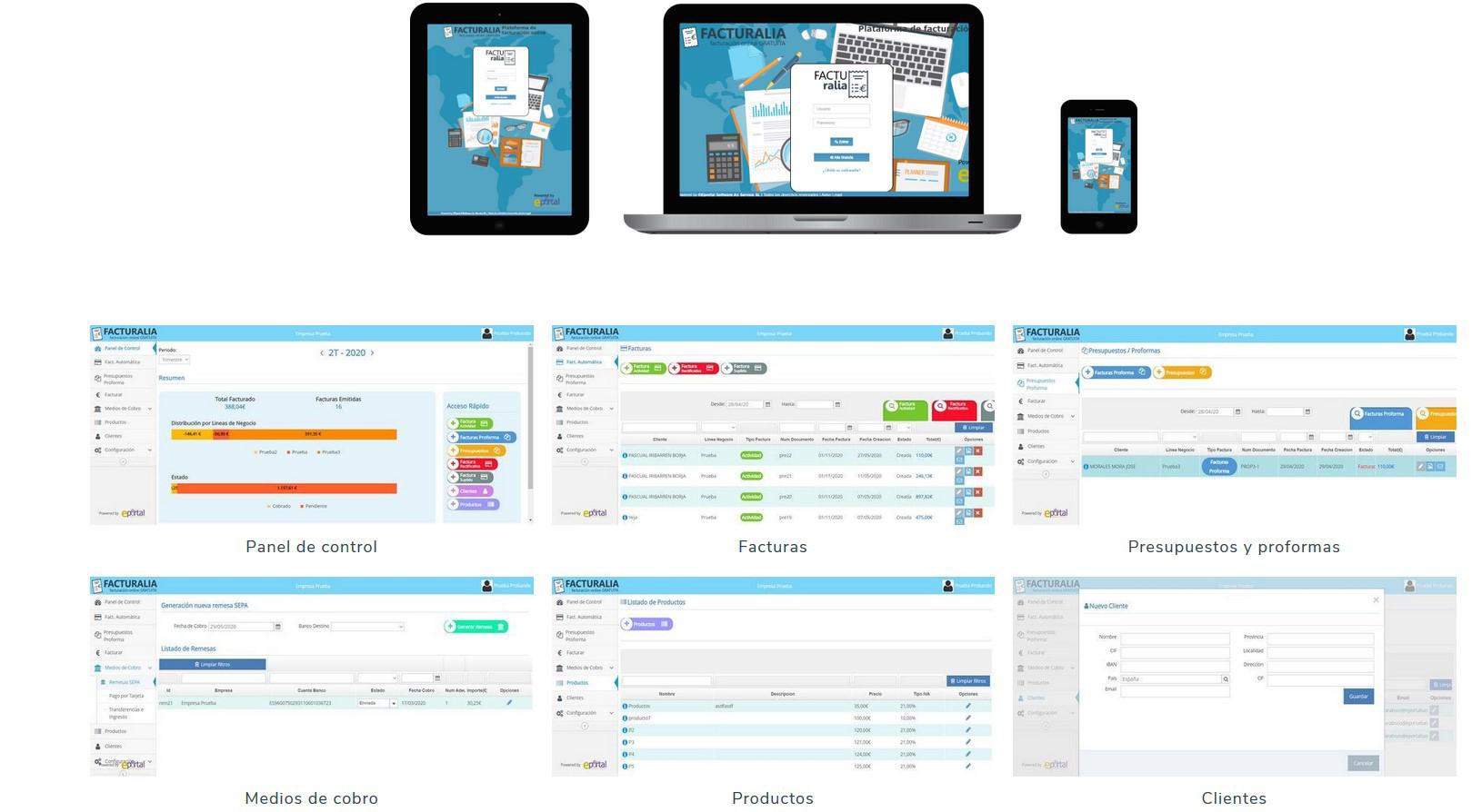Sistema de facturacion Online gratuito y facil de usar