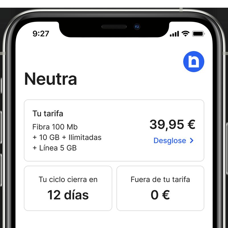 app neutra para la gestion de sus servicios de telefonia e internet